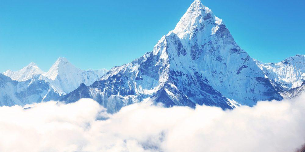 Mountain,Peak,Everest.,Highest,Mountain,In,The,World.,National,Park,